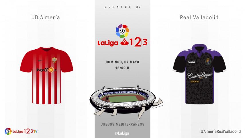 Mucho más que tres puntos para Almería y Real Valladolid
