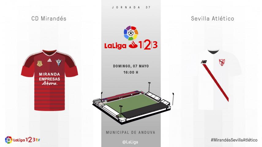 El Mirandés busca su momento ante el Sevilla Atlético