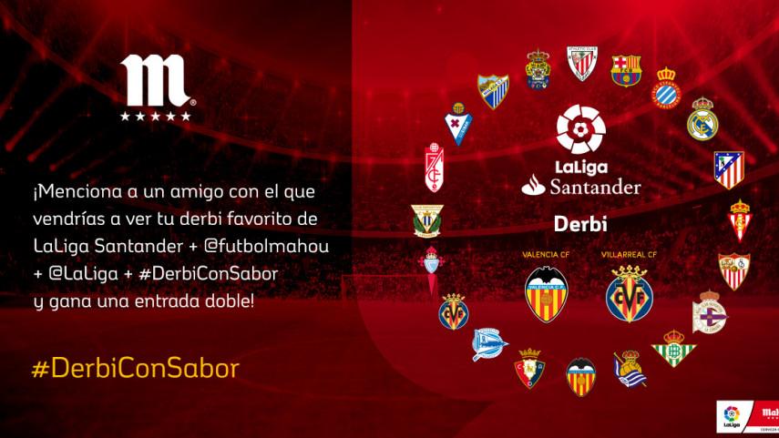 ¿Con quién quieres vivir el #DerbiConSabor de esta jornada entre Valencia CF y Villarreal CF??