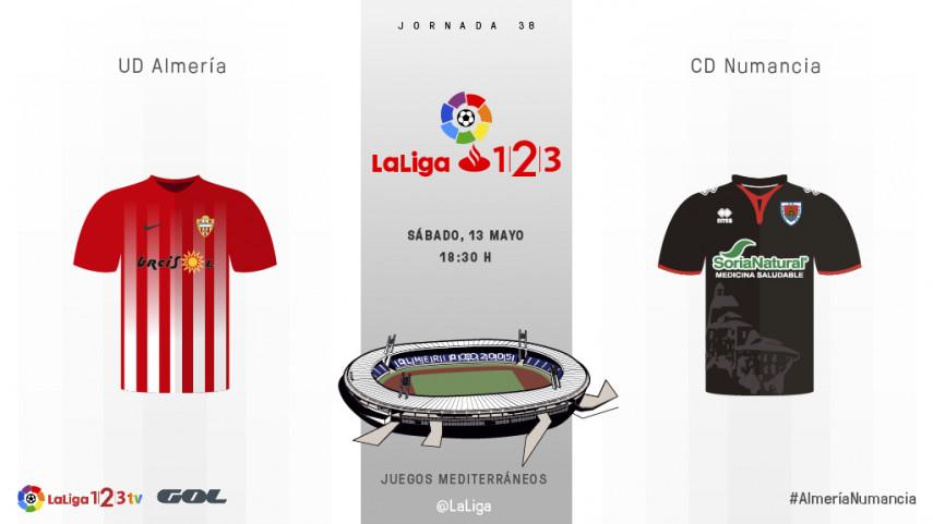 La UD Almería y el CD Numancia quieren decirle adiós al descenso