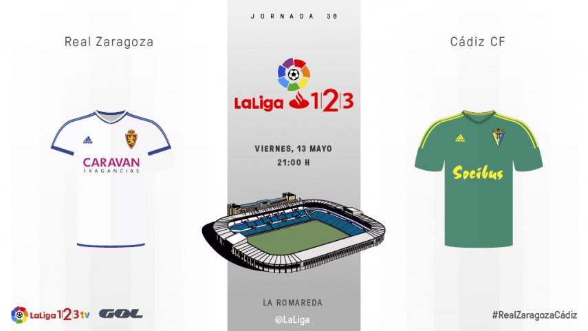 El Cádiz juega su primera final en La Romareda