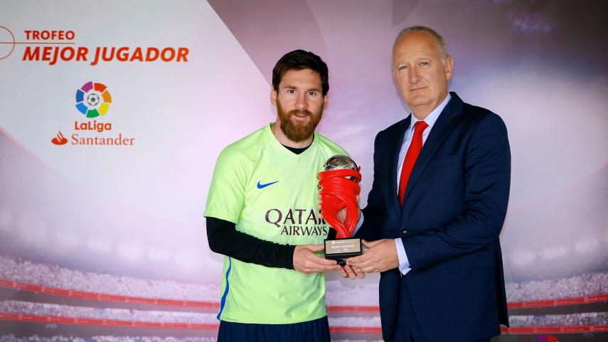 Lionel Messi named LaLiga Santander Player of the Month for April