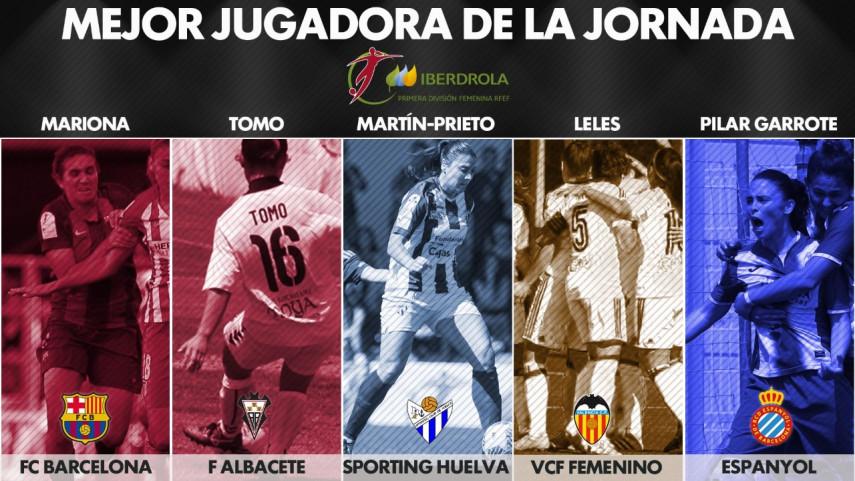 ¿Quien fue la mejor jugadora de la jornada 29 de la Liga Femenina Iberdrola?