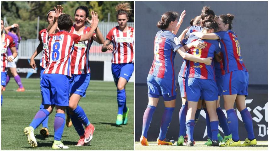 Así llegan Atlético de Madrid y FC Barcelona a la última jornada de la Liga Iberdrola