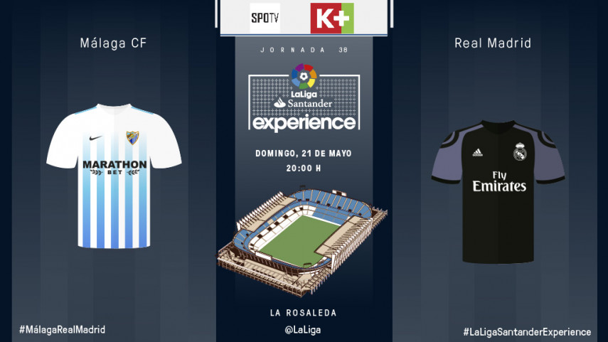 La Rosaleda awaits eight SPOTV and K+ subscribers for the final matchday of the LaLiga Santander campaign