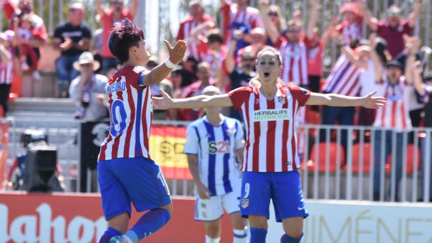 El At. Madrid Femenino, campeón de la Liga Femenina Iberdrola; el UD Tacuense y el Oiartzun, se despiden de ella