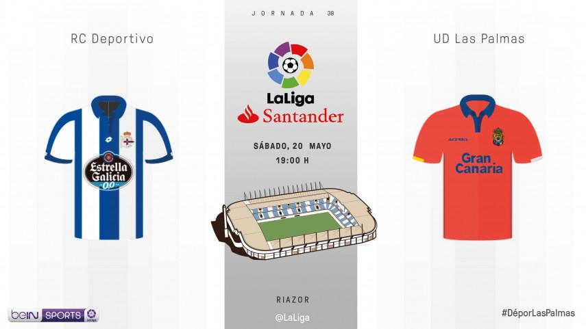 Deportivo y Las Palmas buscan terminar con buen pie la temporada