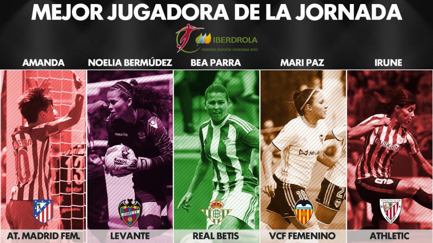 ¿Quién fue la mejor jugadora de la jornada 30 de la Liga Femenina Iberdrola?