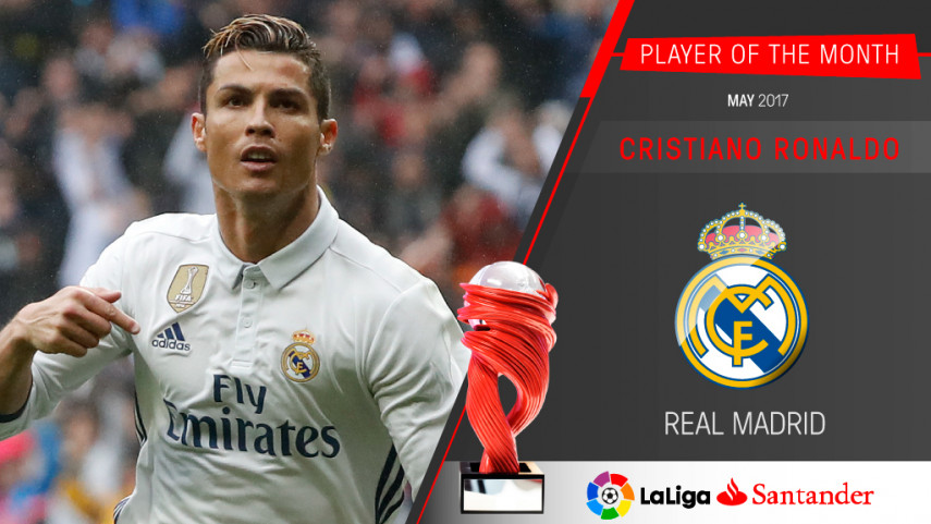 Cristiano Ronaldo named LaLiga Santander Player of the Month for May