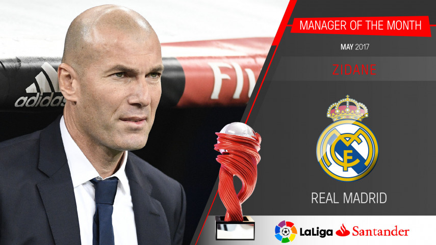 Zinedine Zidane named LaLiga Santander Manager of the Month for May