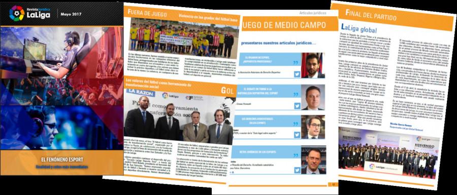 No te pierdas toda la actualidad del  fenómeno esport en la Revista Jurídica LaLiga