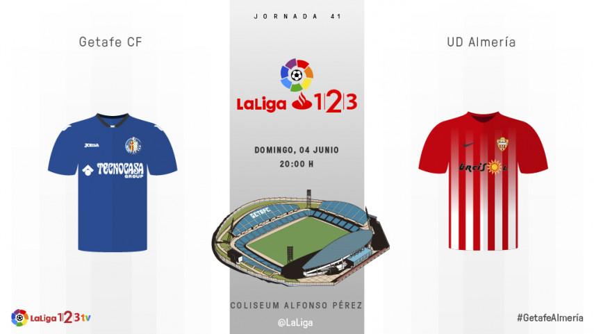 Getafe CF y UD Almería, a tres puntos del objetivo