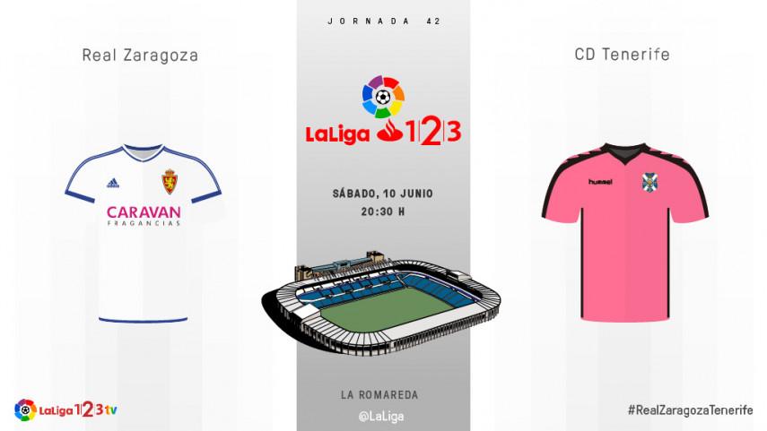 El Tenerife busca en La Romareda el factor campo en el play-off