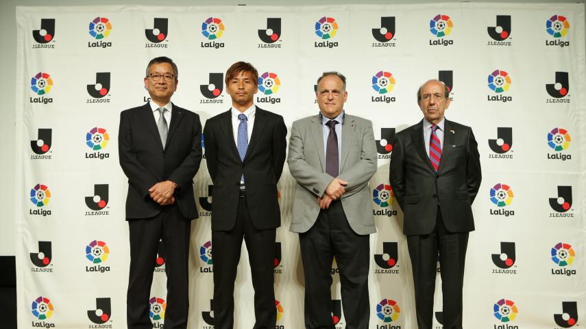J-League y LaLiga trabajarán juntas para el desarrollo del fútbol en España y Japón