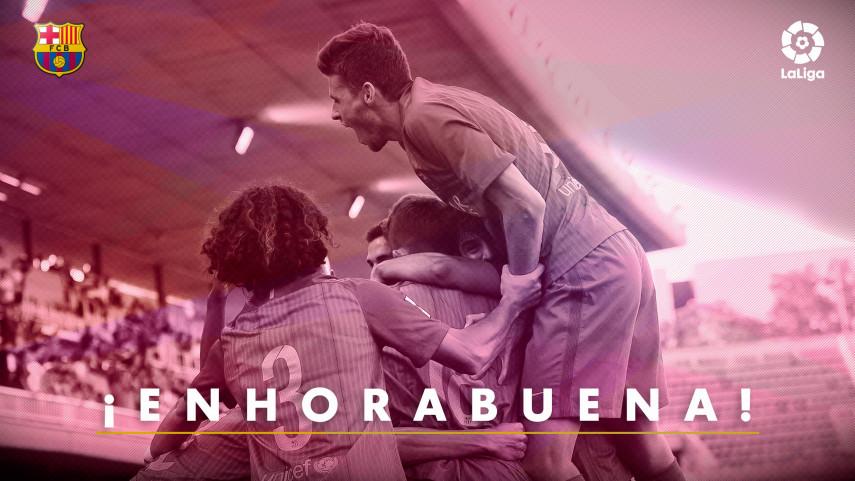 El FC Barcelona B vuelve a LaLiga 1l2l3