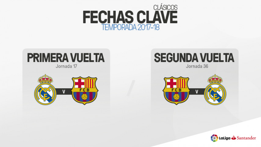 El Clásico se disputará en las jornadas 17 y 36 de LaLiga Santander