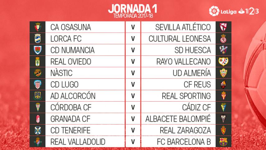 Primera jornada de LaLiga 1l2l3 2017/18