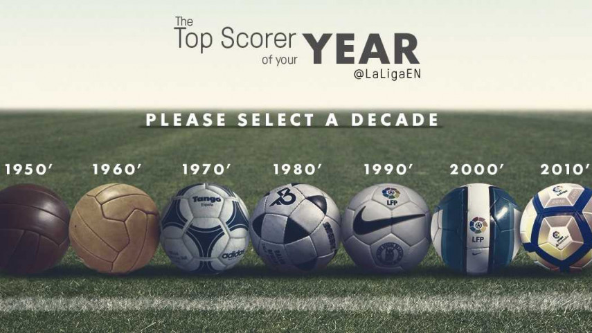 Who was the LaLiga Santander top scorer in the year you were born?