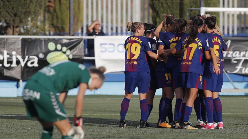 El Barcelona empieza arrasando