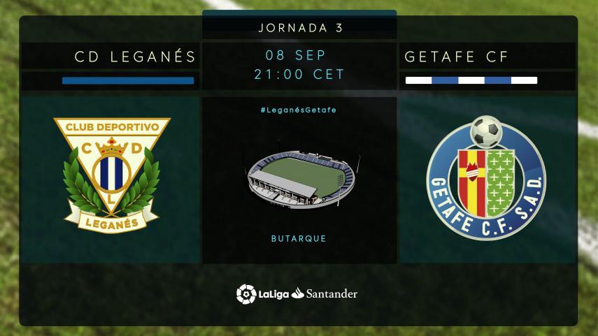 Histórico primer derbi entre Leganés y Getafe en LaLiga Santander