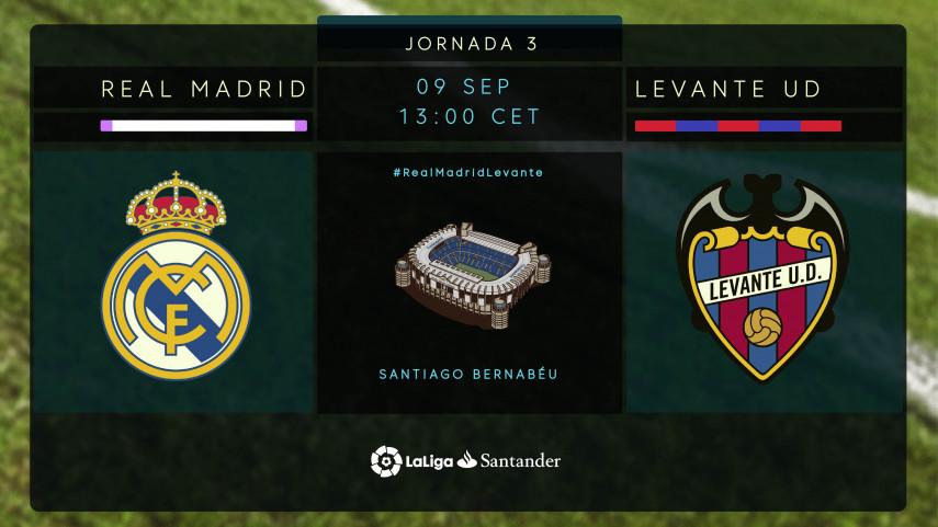 La ilusión del Levante mide la solidez del Real Madrid en el Bernabéu