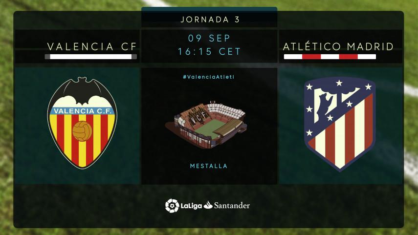 El Atlético visita a un Valencia en alza
