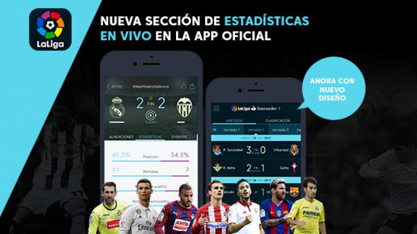 LaLiga renueva su App Oficial con una nueva sección de estadísticas y un nuevo diseño