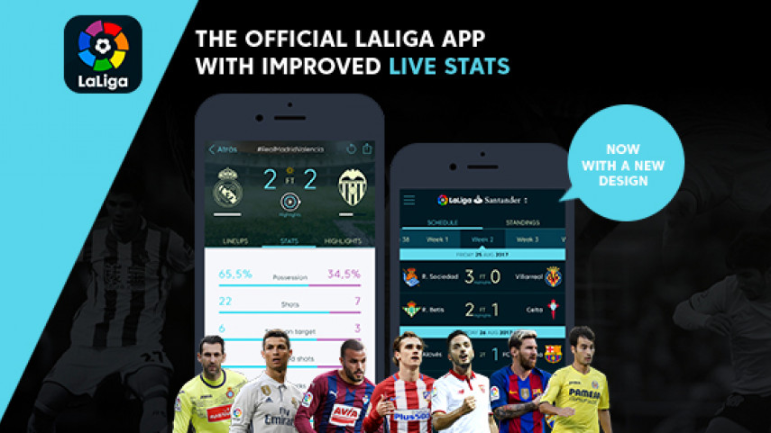 LaLiga's official app undergoes revamp with release of statistics section