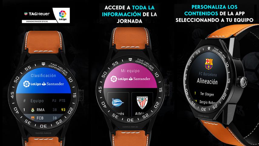 La app de LaLiga... ¡próximamente en tu reloj Tag Heuer Connected Modular 45!