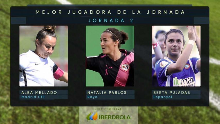 ¿Quién fue la mejor jugadora de la jornada 2 de la Liga Femenina Iberdrola?