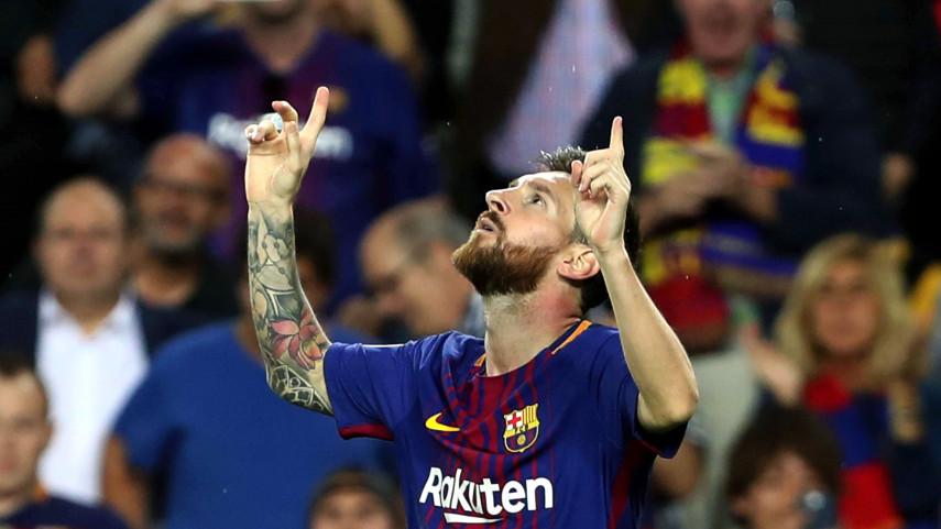 Messi le da los tres puntos al FC Barcelona y el Atleti empata ante la Roma