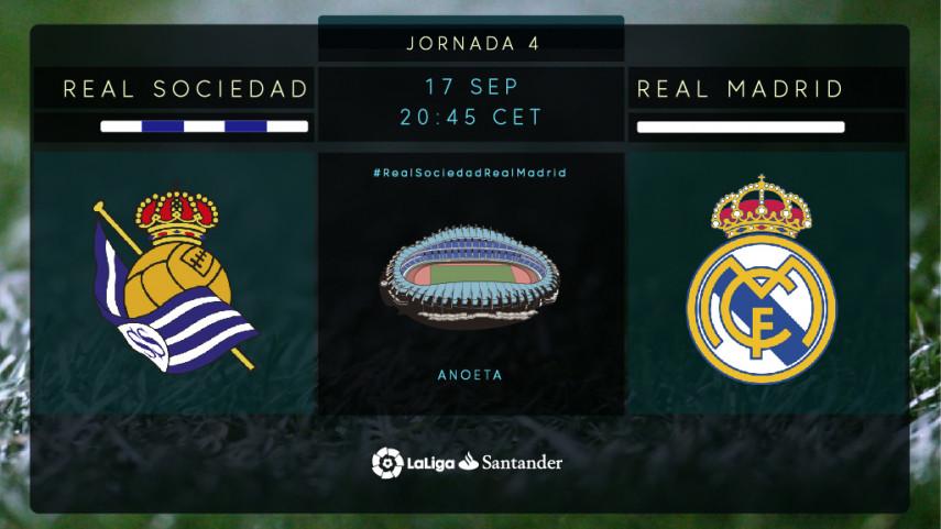 El Real Madrid pone a prueba la felicidad de la Real Sociedad