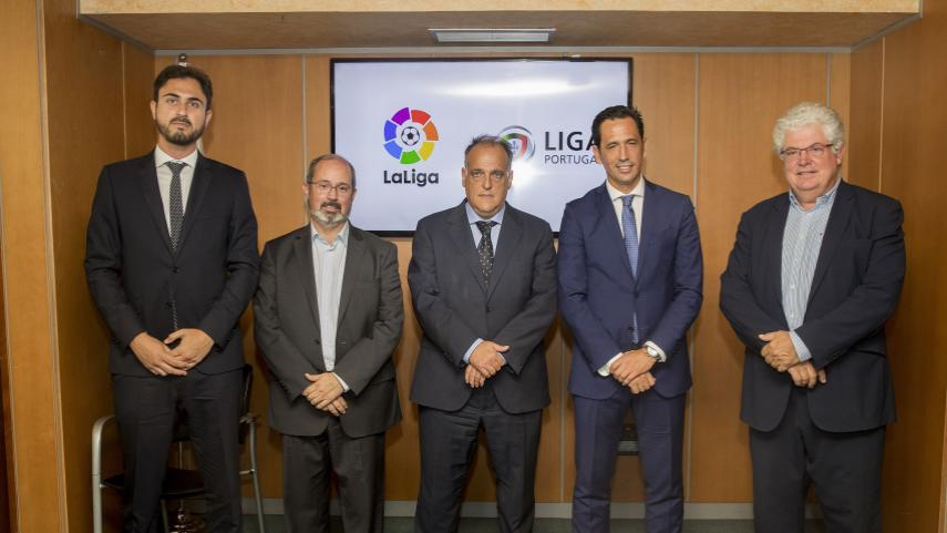 LaLiga y Liga Portugal colaborarán en la promoción internacional de ambas marcas.
