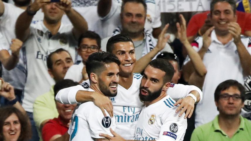 El Real Madrid vence con contundencia al Apoel y el Sevilla empata ante el Liverpool