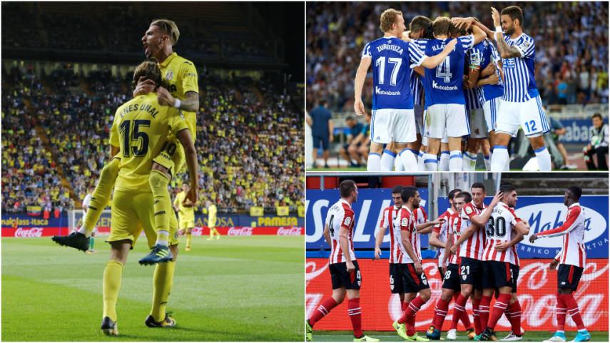 Athletic, Villarreal y Real Sociedad inician el camino hacia un sueño