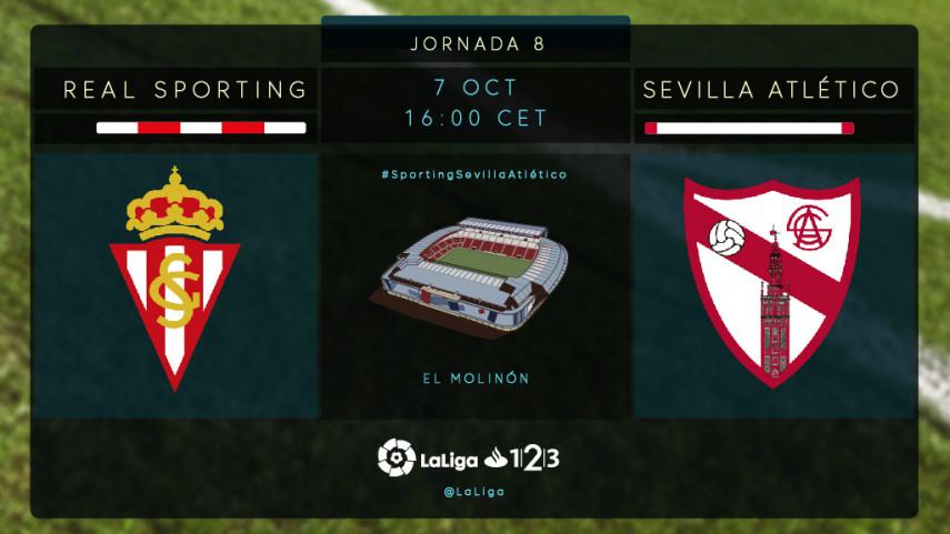 El Sevilla Atlético busca la reacción en El Molinón