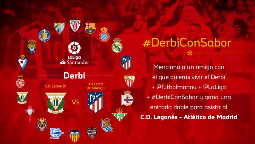 ¿Con quién quieres vivir el #DerbiConSabor entre CD Leganés y Atlético de Madrid de la jornada 7?