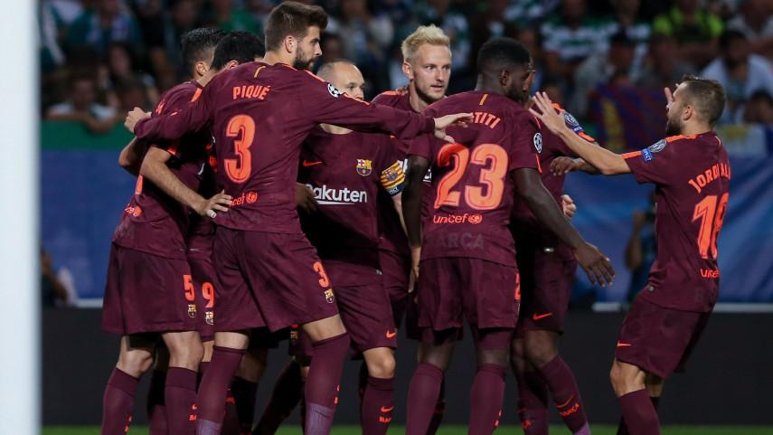 Pleno del Barça en la Champions y derrota 'in extremis' del Atlético