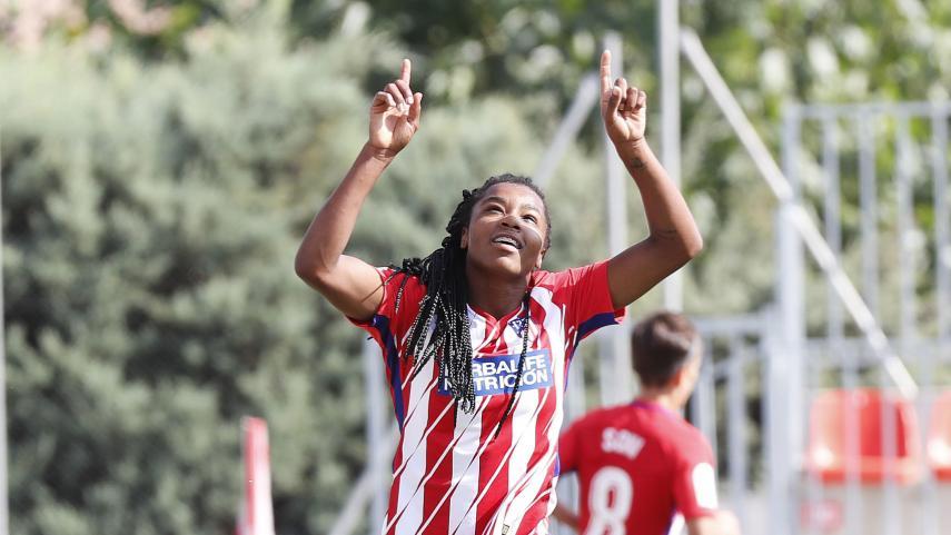 El At. Madrid Femenino golea al Athletic y sigue la estela del líder