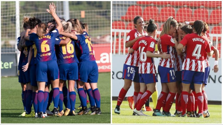 FC Barcelona y At. Madrid Femenino arrancan su andadura por la Women's Champions League