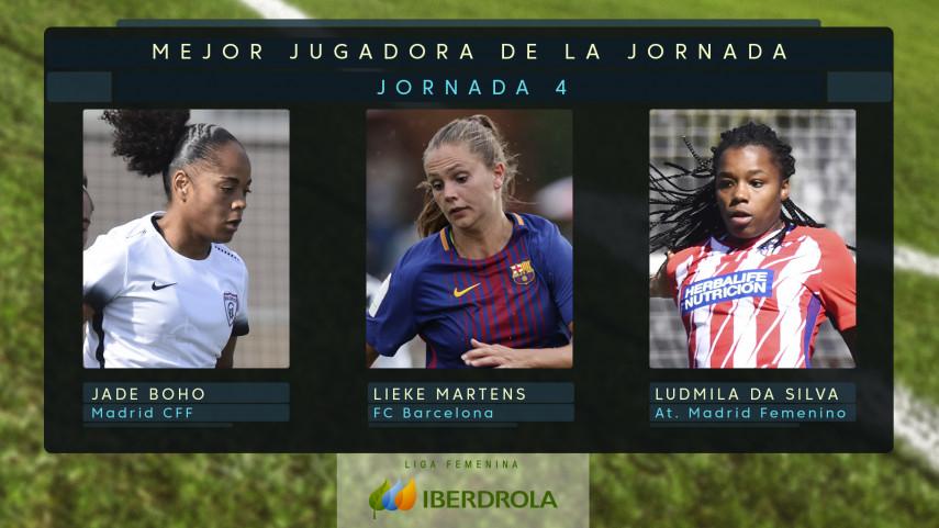 ¿Quién fue la mejor jugadora de la jornada 4 de la Liga Femenina Iberdrola?