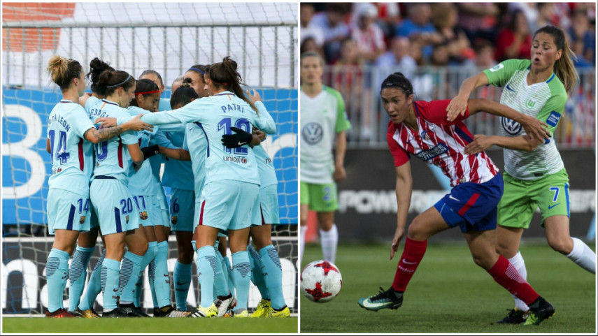 Cara y cruz para Barcelona y At. Madrid Femenino en la Women's Champions League