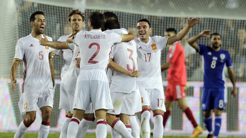 Spain round off World Cup qualifying with victory