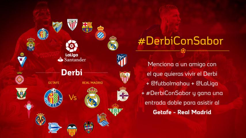 ¿Con quién quieres vivir el #DerbiConSabor entre Getafe CF y Real Madrid de la jornada 8?