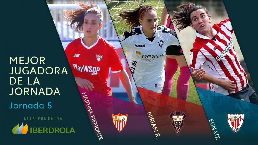 ¿Quién fue la mejor jugadora de la jornada 5 de la Liga Femenina Iberdrola?