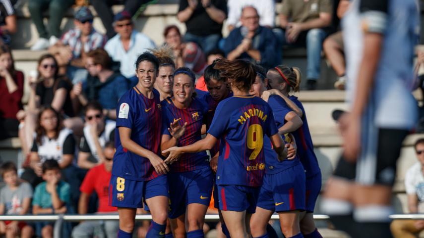 El FC Barcelona suma y sigue a costa del VCF Femenino