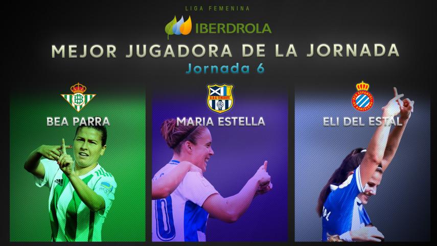 ¿Quién fue la mejor jugadora de la jornada 6 de la Liga Femenina Iberdrola?