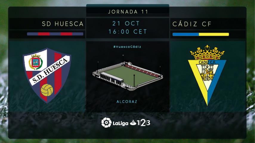 El Cádiz busca romper la racha del Huesca