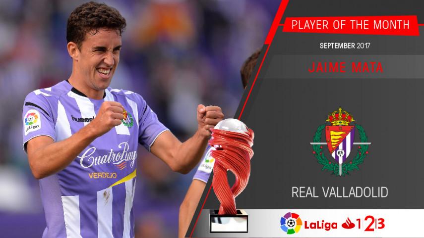 Jaime Mata named LaLiga 1 2 3 Player of the Month for September