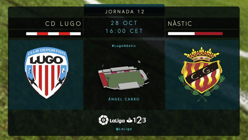 El Lugo persigue el liderato ante un Nàstic en apuros